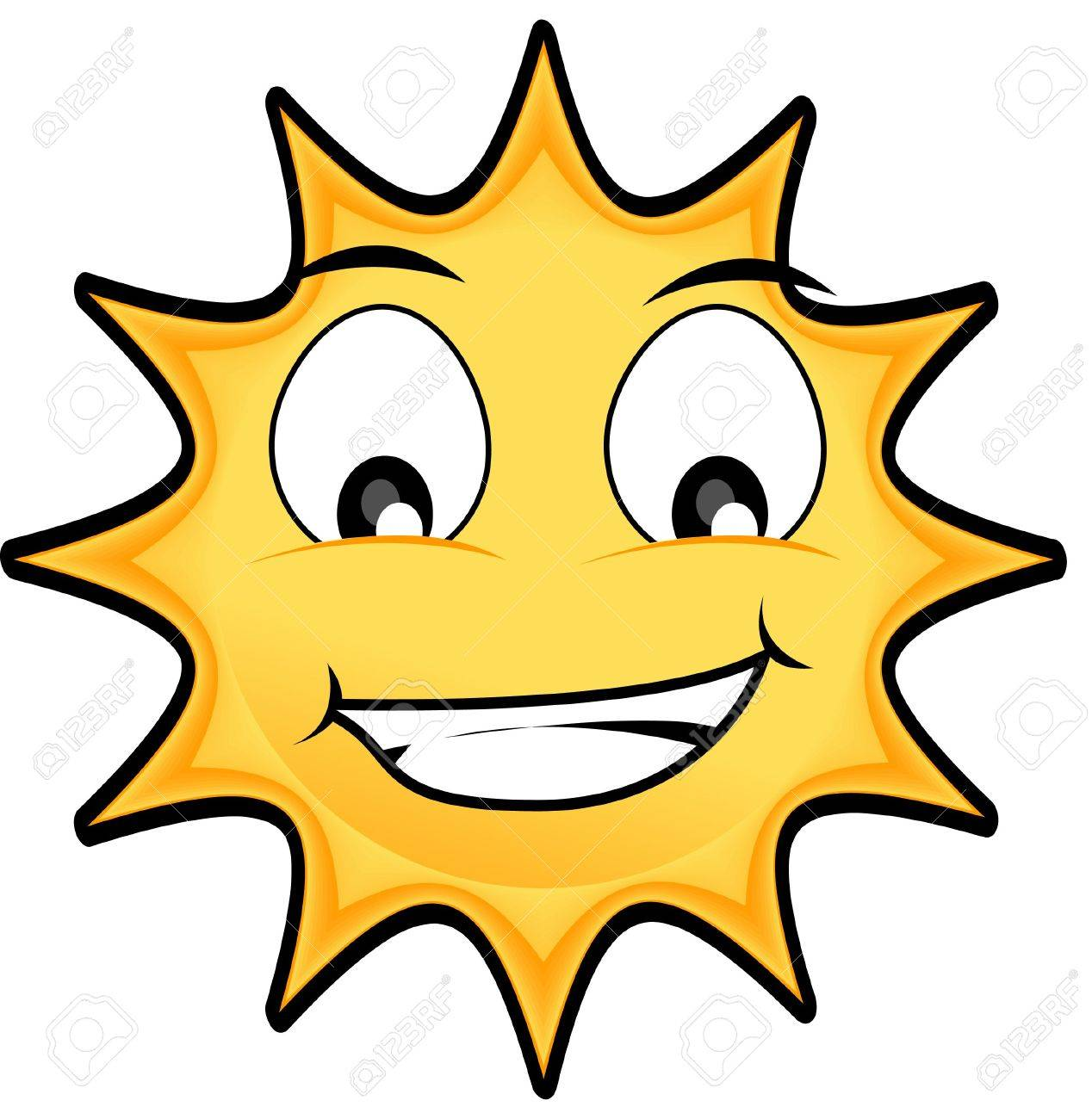 happy Sun illustration with big eyes Stock Illustration - 3205823