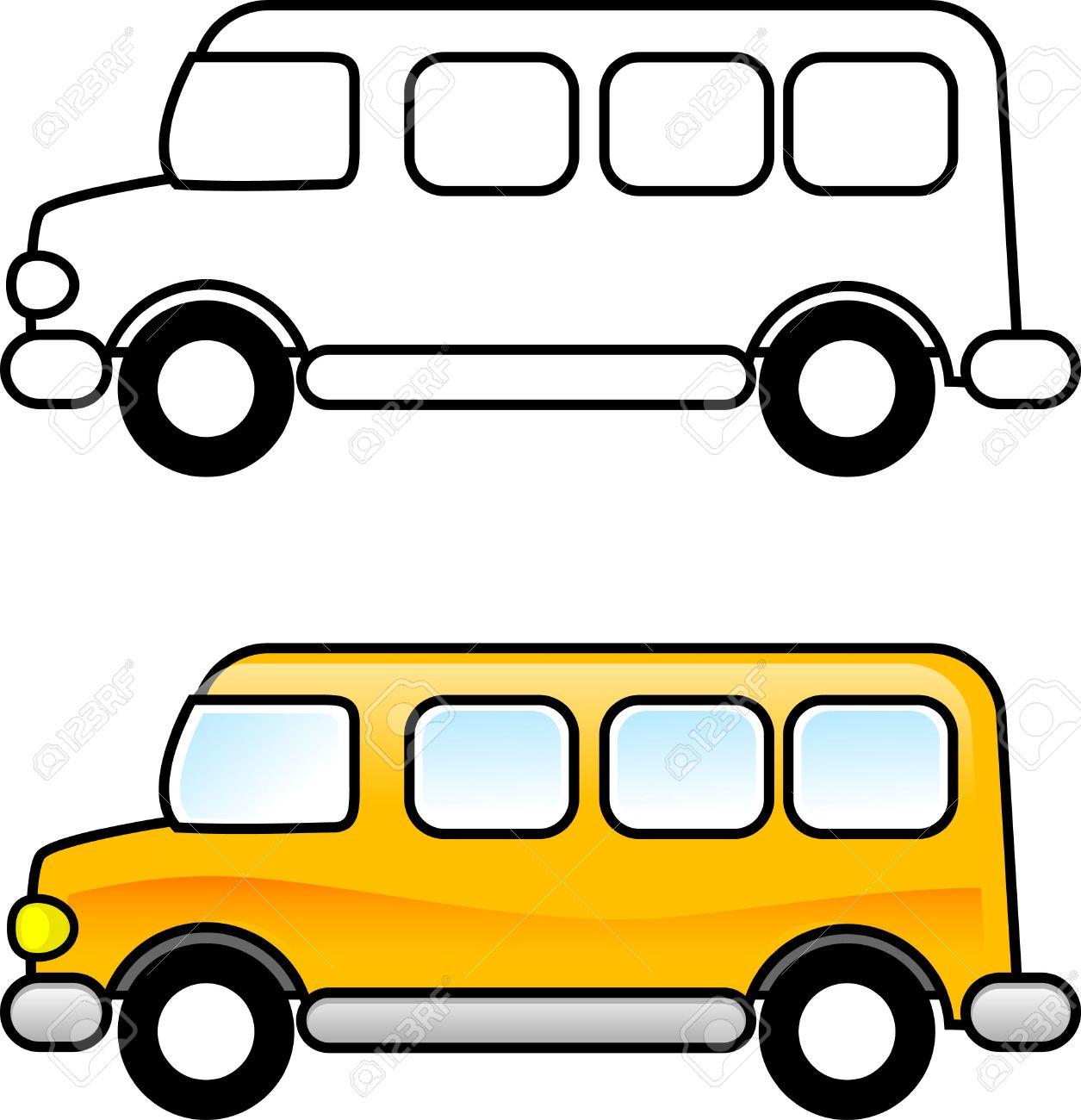 School Bus - Para Imprimir La Página Para Colorear Para Los Niños O ...