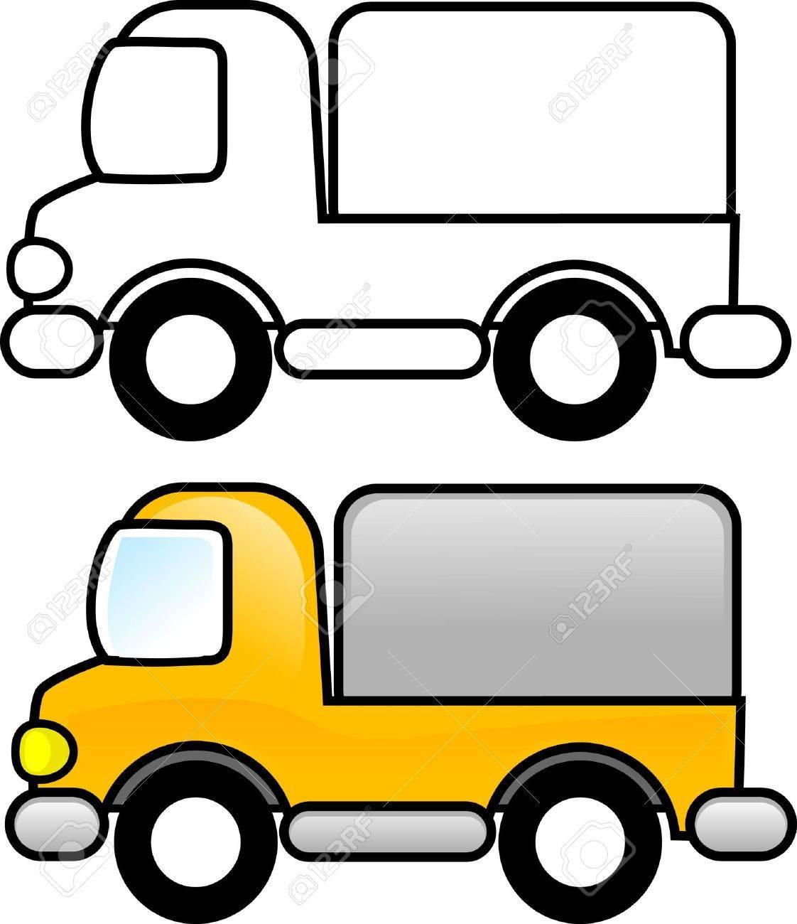Único Camión Imprimible Para Colorear Modelo - Dibujos Para Colorear ...