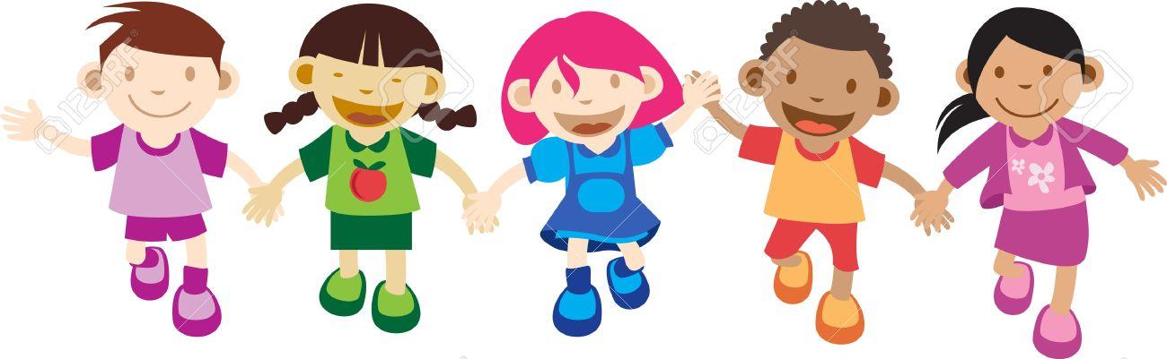 cartoon kids playing