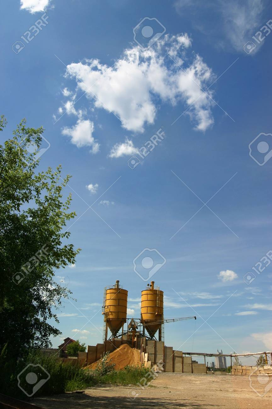 Factory details on a background of the sky Stock Photo - 462585