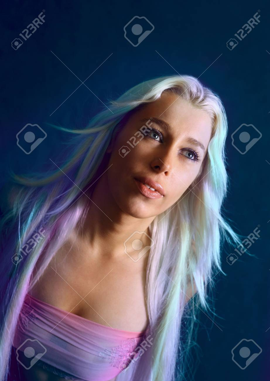 The girl with long hair Stock Photo - 662734