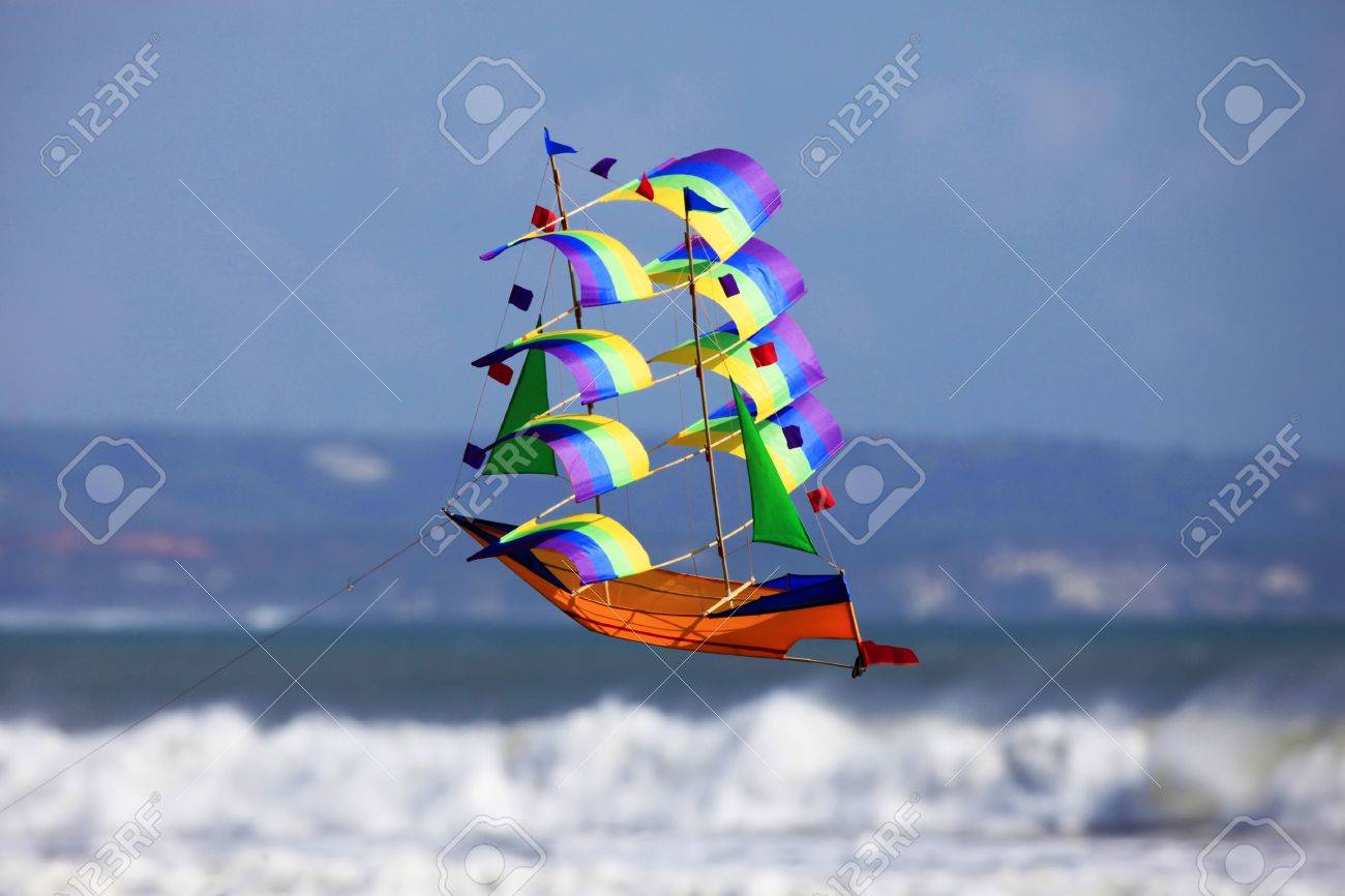 Fly a kite - a sailing vessel in the sky Stock Photo - 7450320