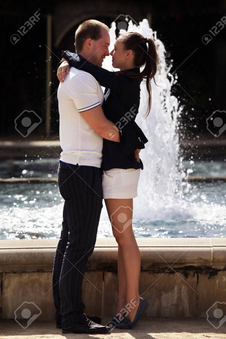 Happy smiling young couple embracing each other over Stock Photo - 17142257