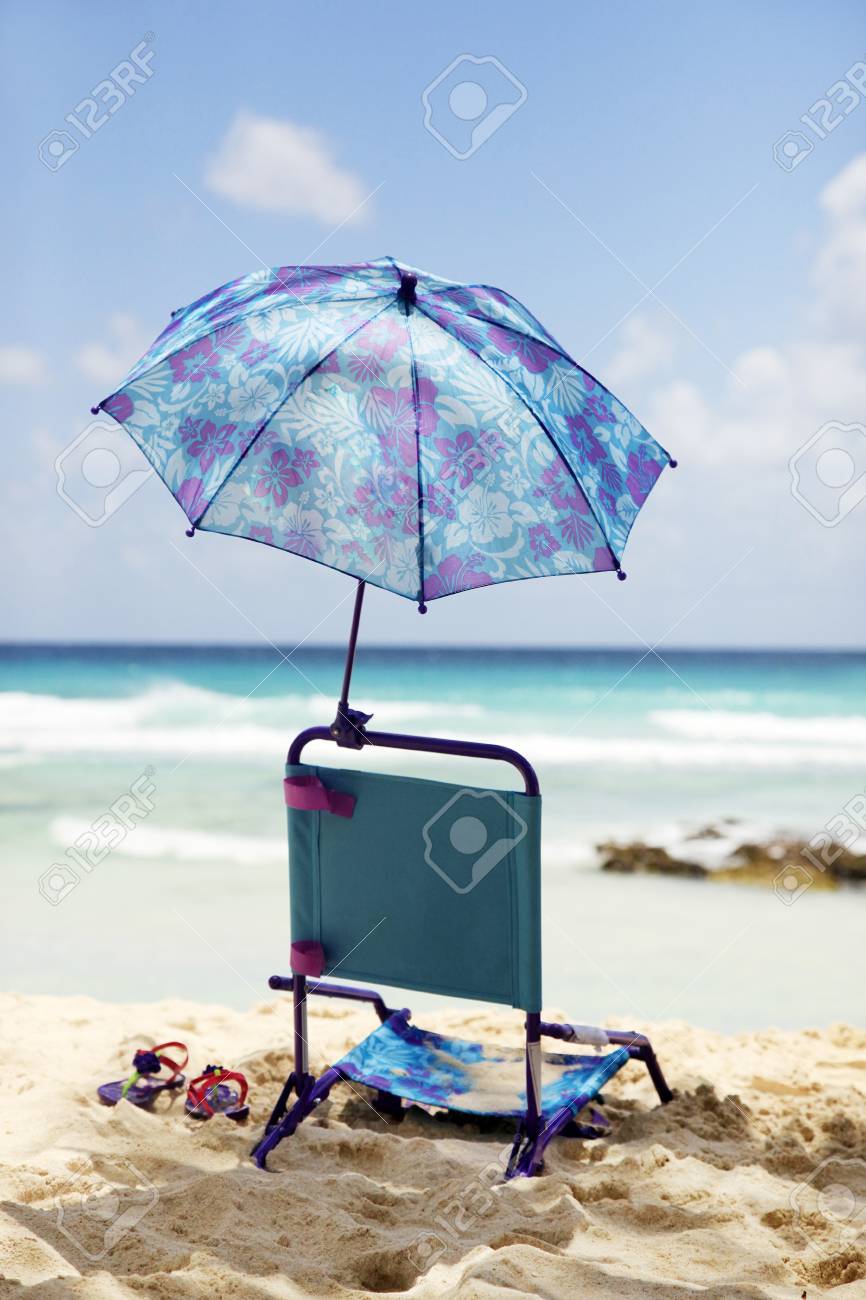 Baby Beach Chair On A Beach Stock Photo Picture And Royalty Free Image Image 23566252