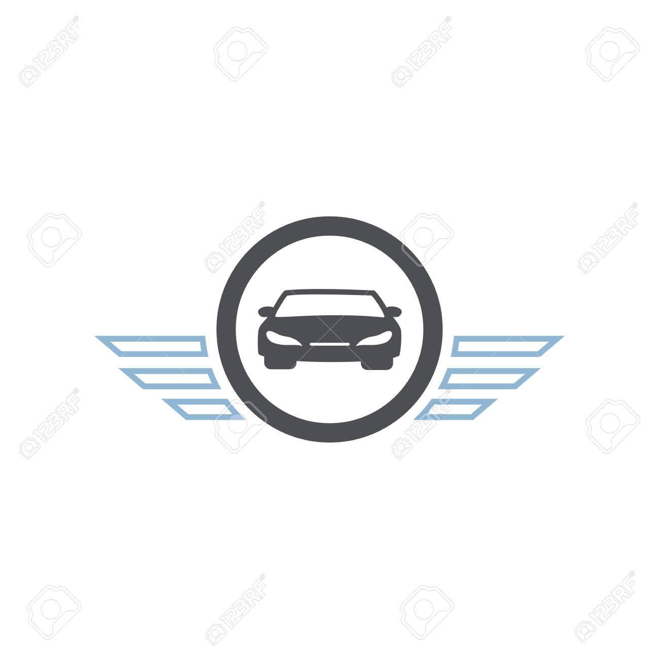 Icon Car Symbol Wings Deisgn Vector Royalty Free Cliparts Vectors