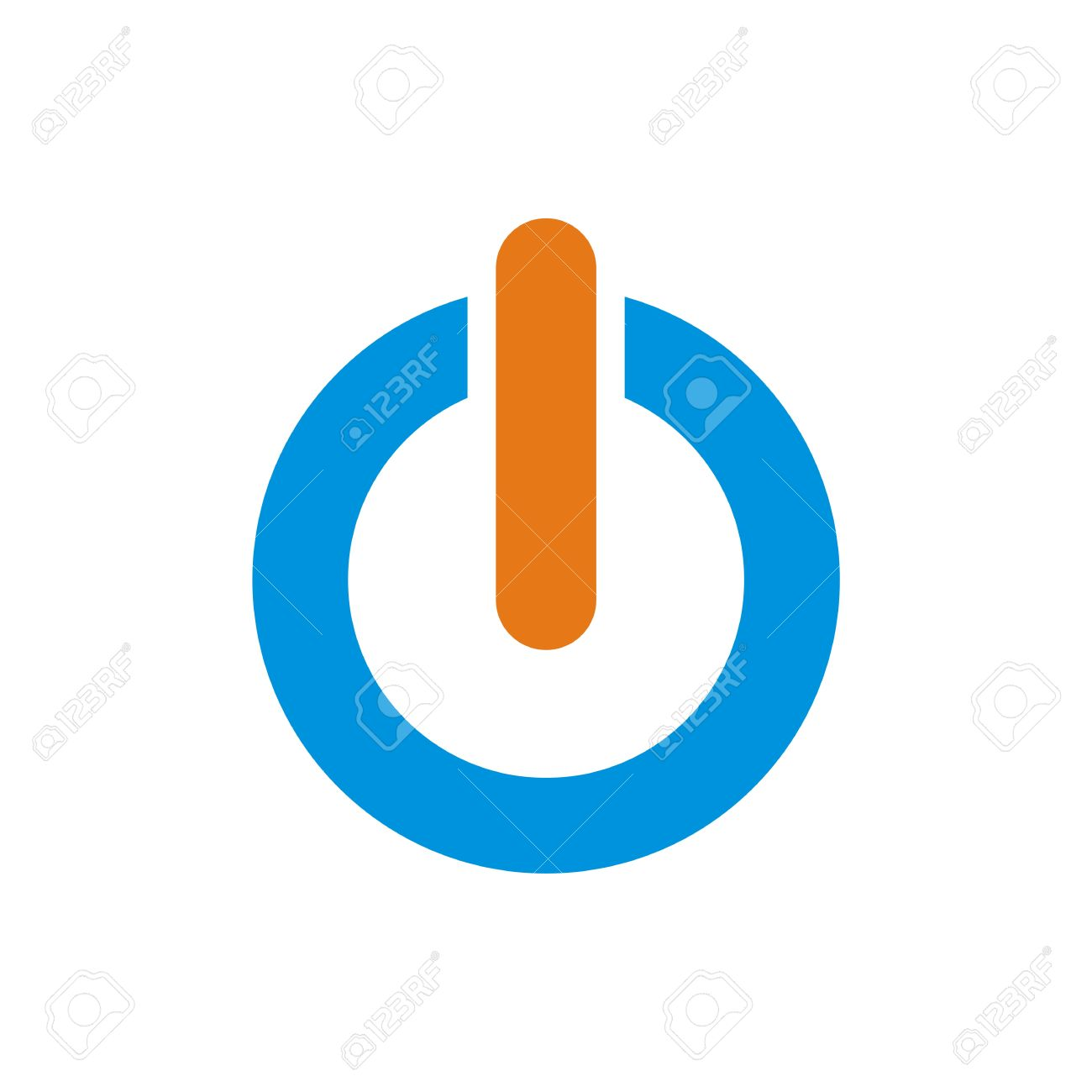 Logo Power Icon Turn Onoff Symbol Vector Royalty Free Cliparts