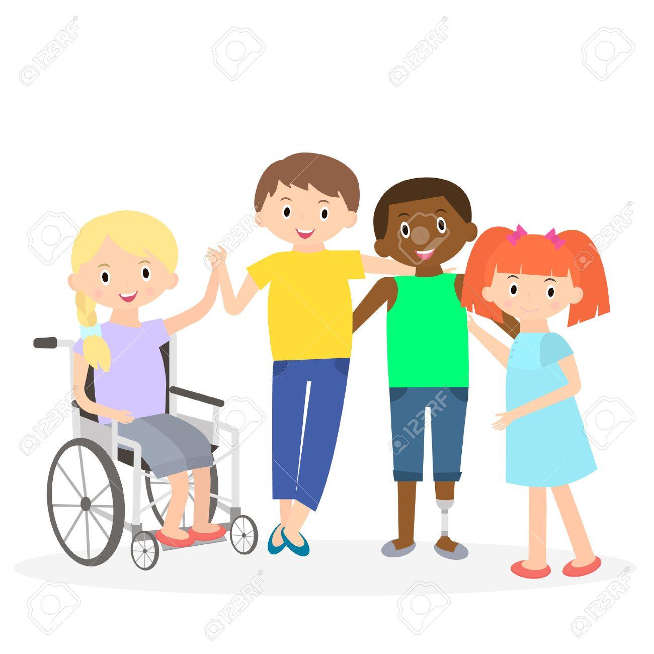 Ninos Discapacitados Con Amigos Los Ninos Discapacitados Aislados