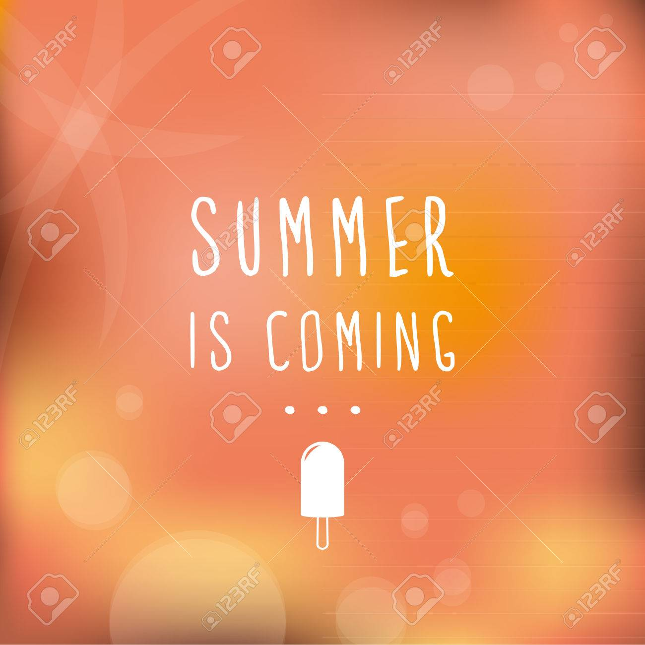 Summer Is Coming Blurred Background Stock Vector   29264973