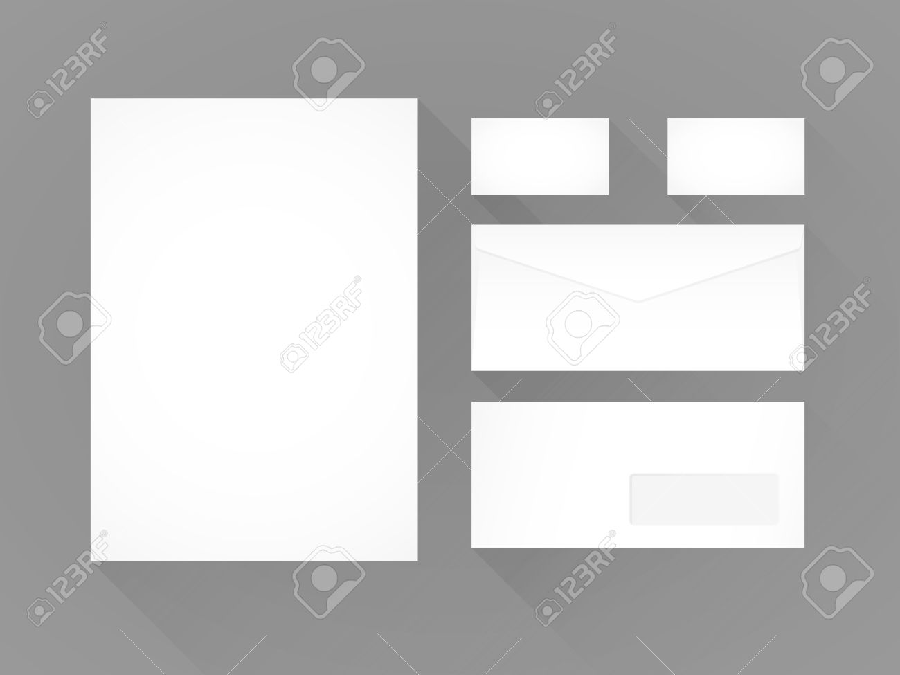 branding identity template grey background letterhead envelope