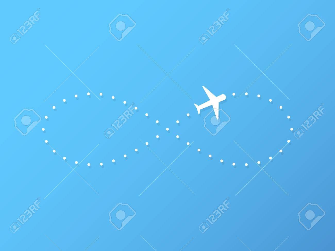 Avión Que Vuela Con El Símbolo De Infinito Ilustraciones Vectoriales ...