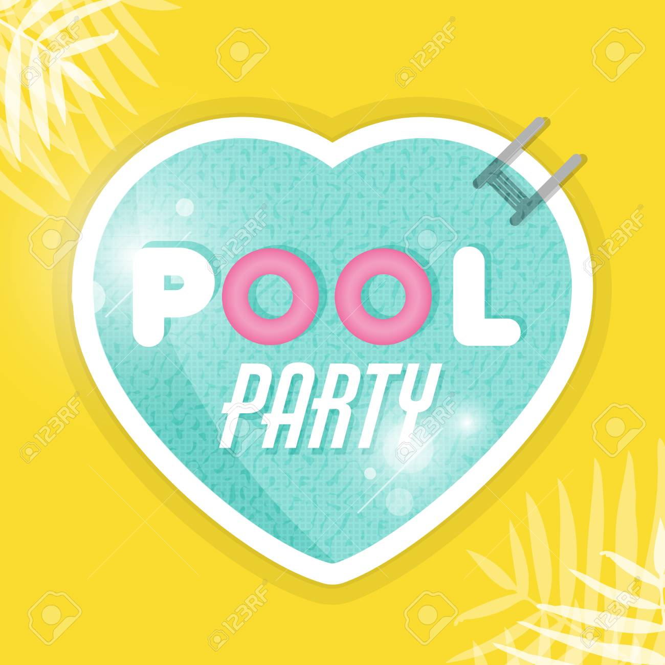 Pool Party Flyer Poster Invitation Or Banner Template Swimming