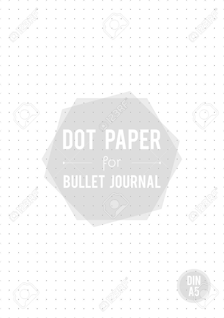 photo regarding A5 Dot Grid Printable known as Dot grid paper. A5 sizing. For bullet magazine. Vector example,..