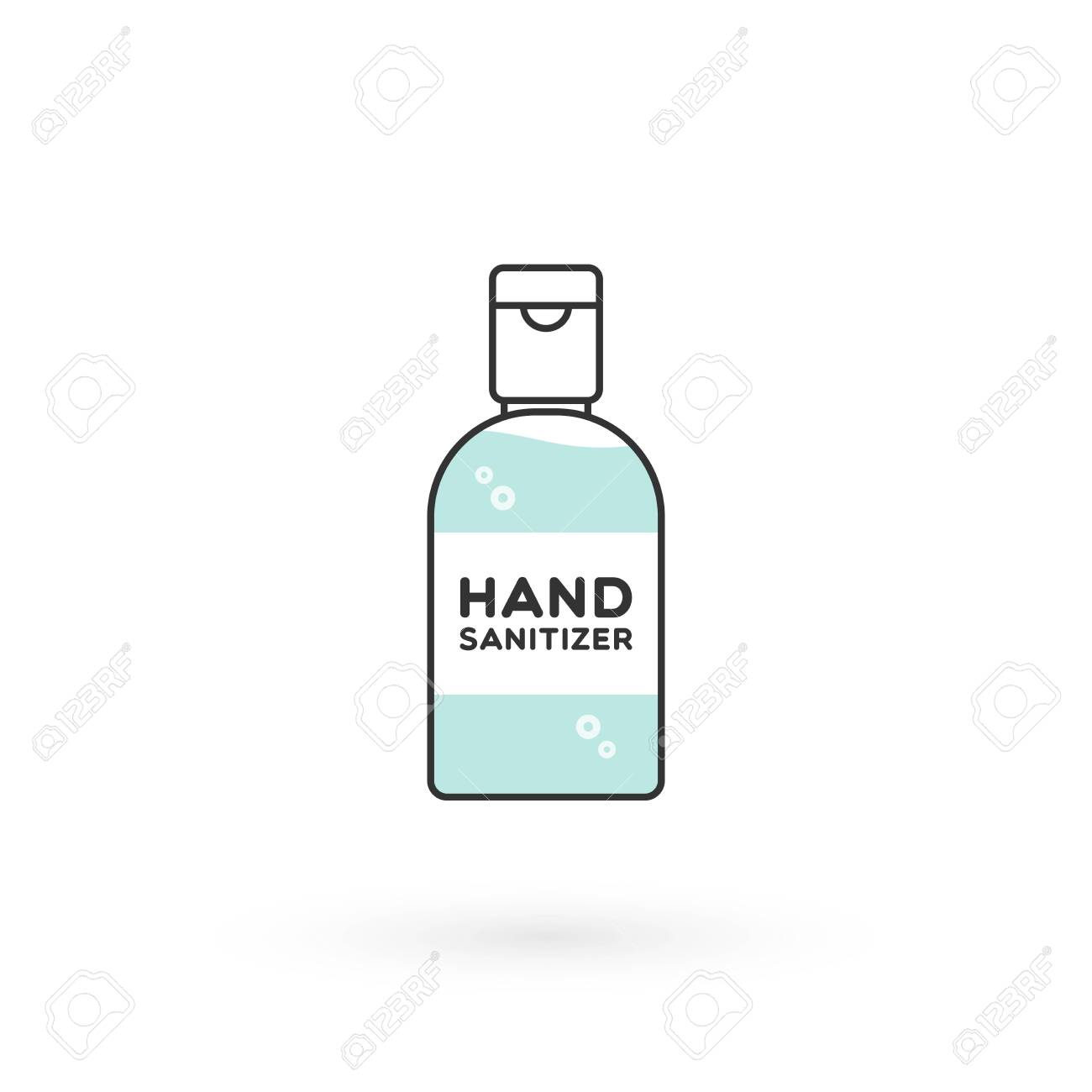 Hand Sanitizer Bottle Isolated Washing Alcohol Gel Used Against Royalty Free Cliparts Vectors And Stock Illustration Image 143608910
