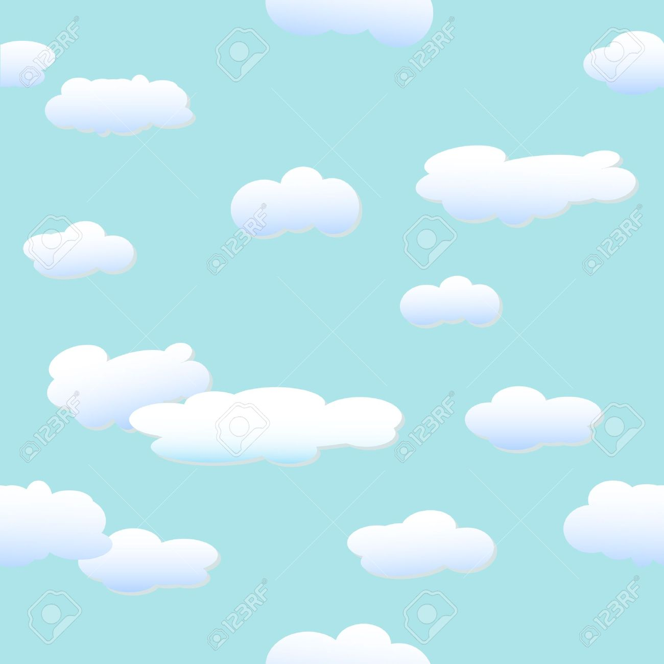 Clouds - vector background