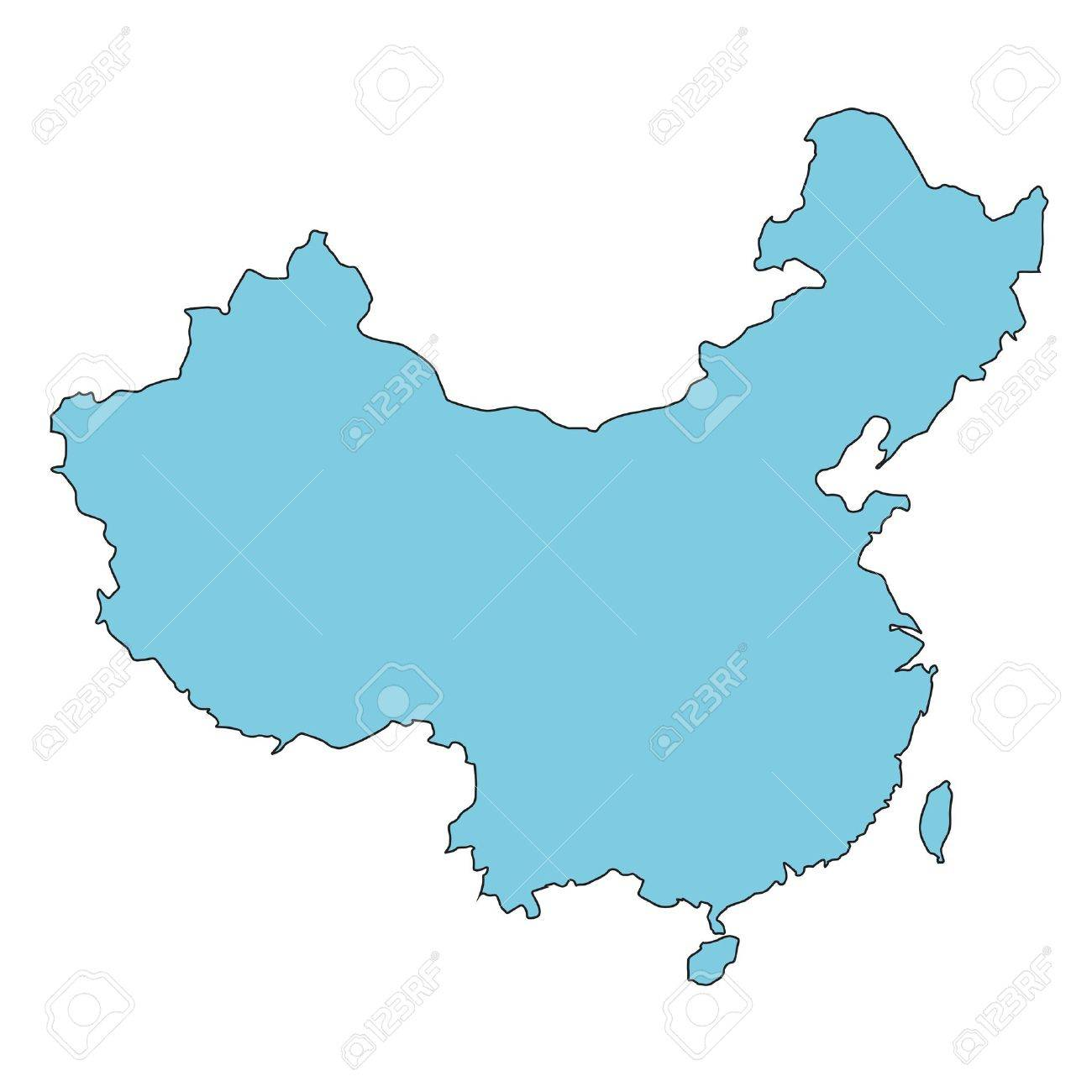 China clear map royalty free cliparts vectors and stock china clear map stock vector 11237744 gumiabroncs Choice Image