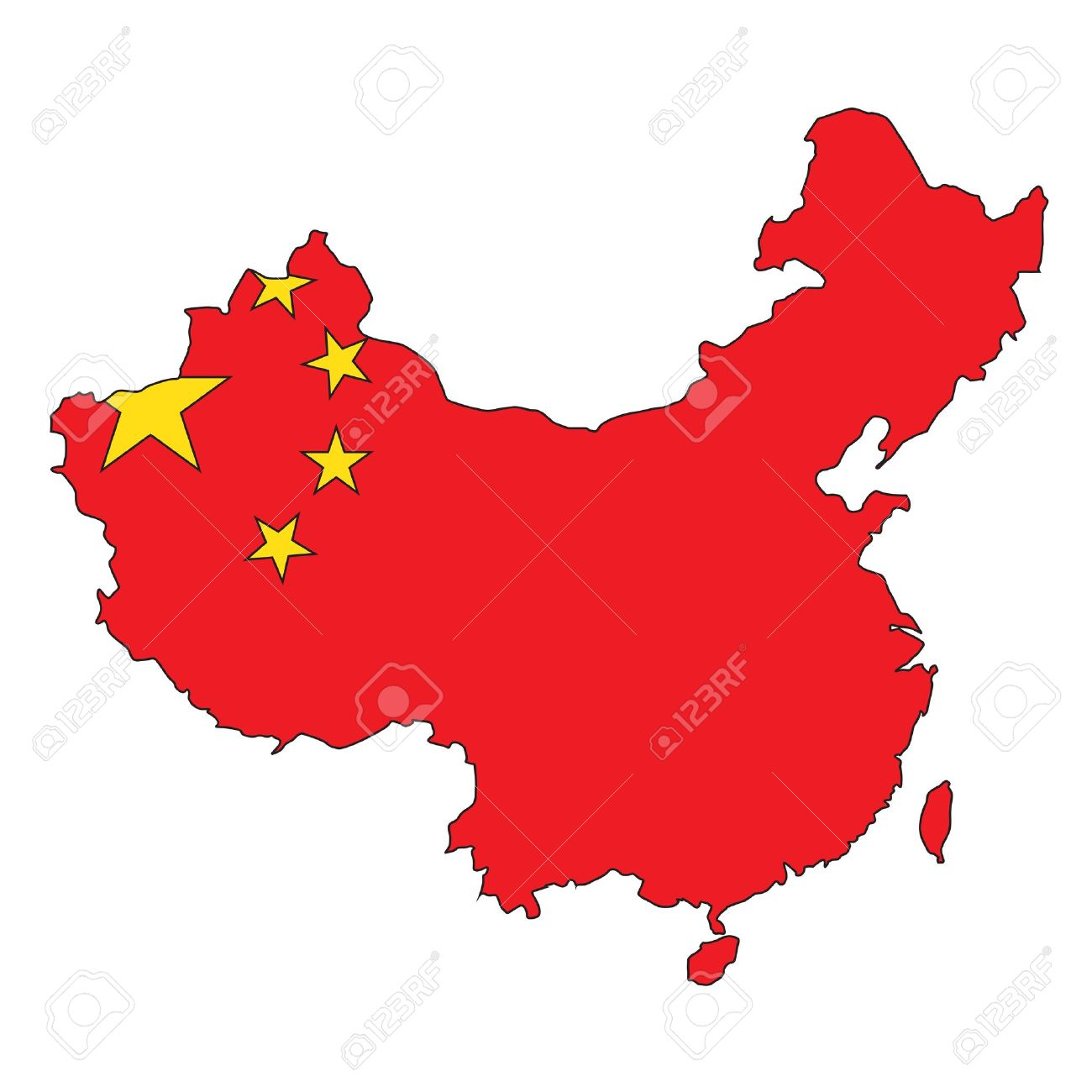 China clear map Stock Vector - 11237746