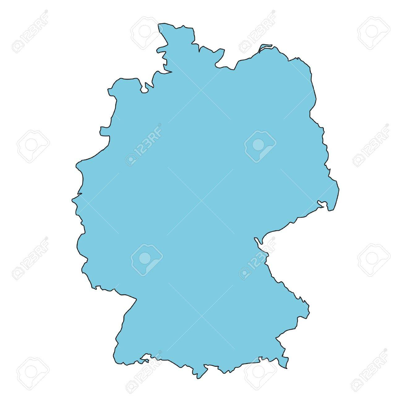 Germany clear map Standard-Bild - 11237742