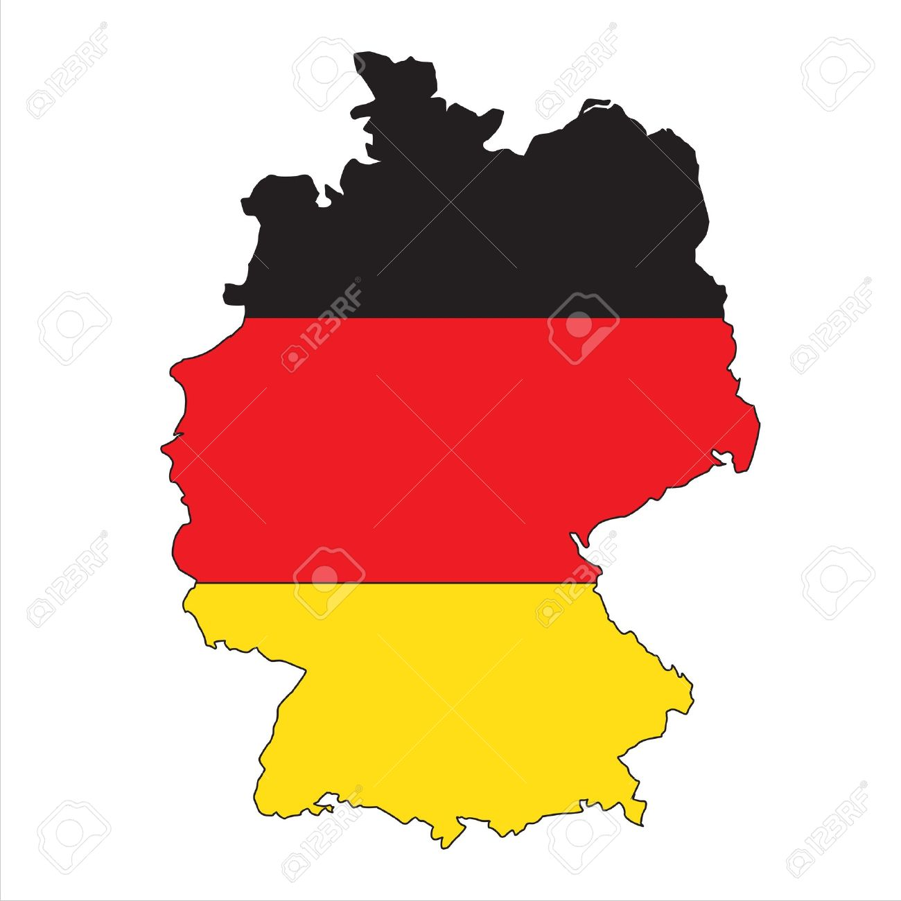 Germany map with flag - 11237743
