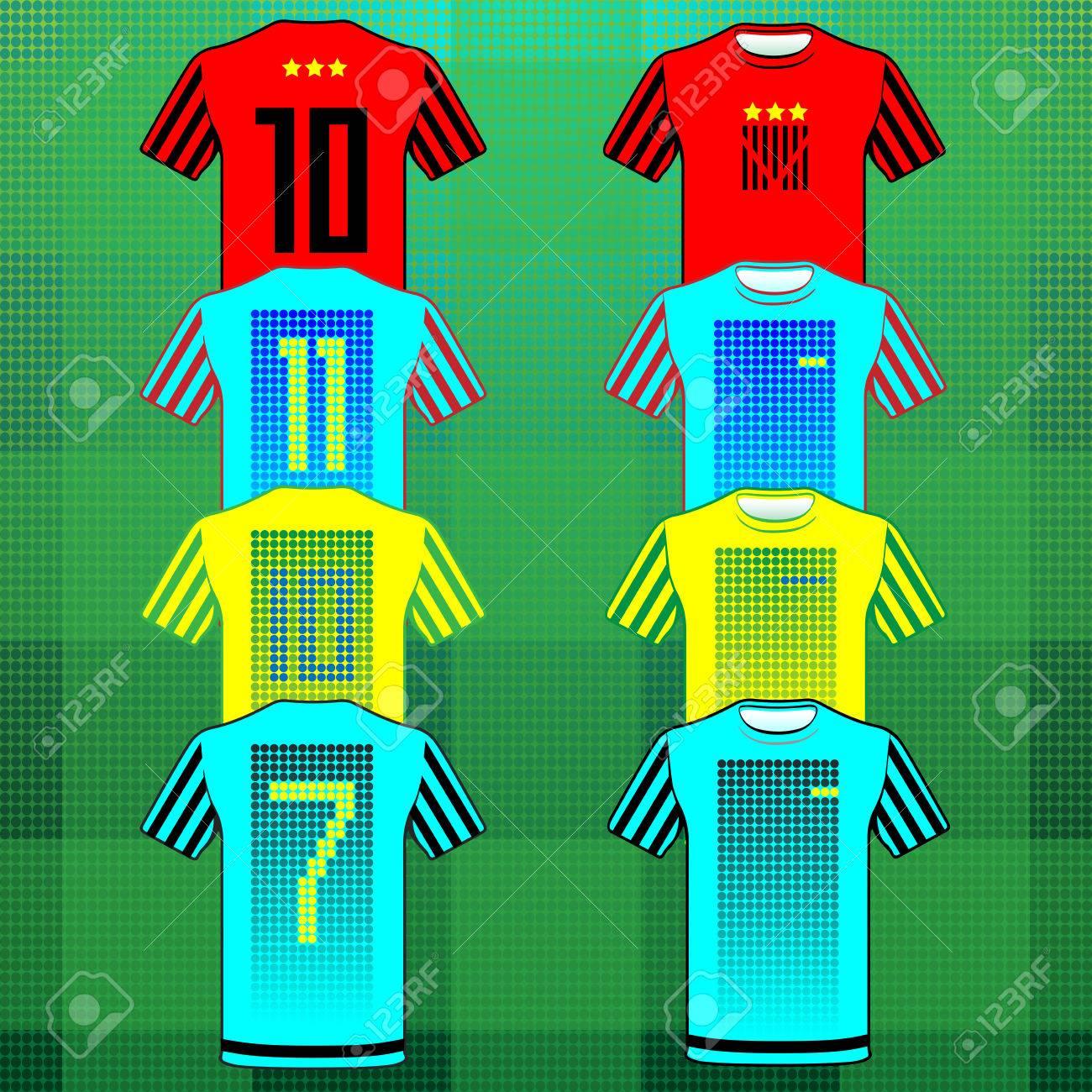 Foto de archivo - Uniforme de Fútbol Fútbol Béisbol Voleibol deporte.  Diseño elegante para los jugadores camisetas. Amarillo bb10f9288ca00