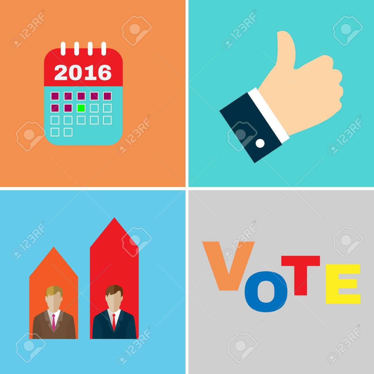 Establece Las Elecciones Icono De Campaña. Los Candidatos Debates ...