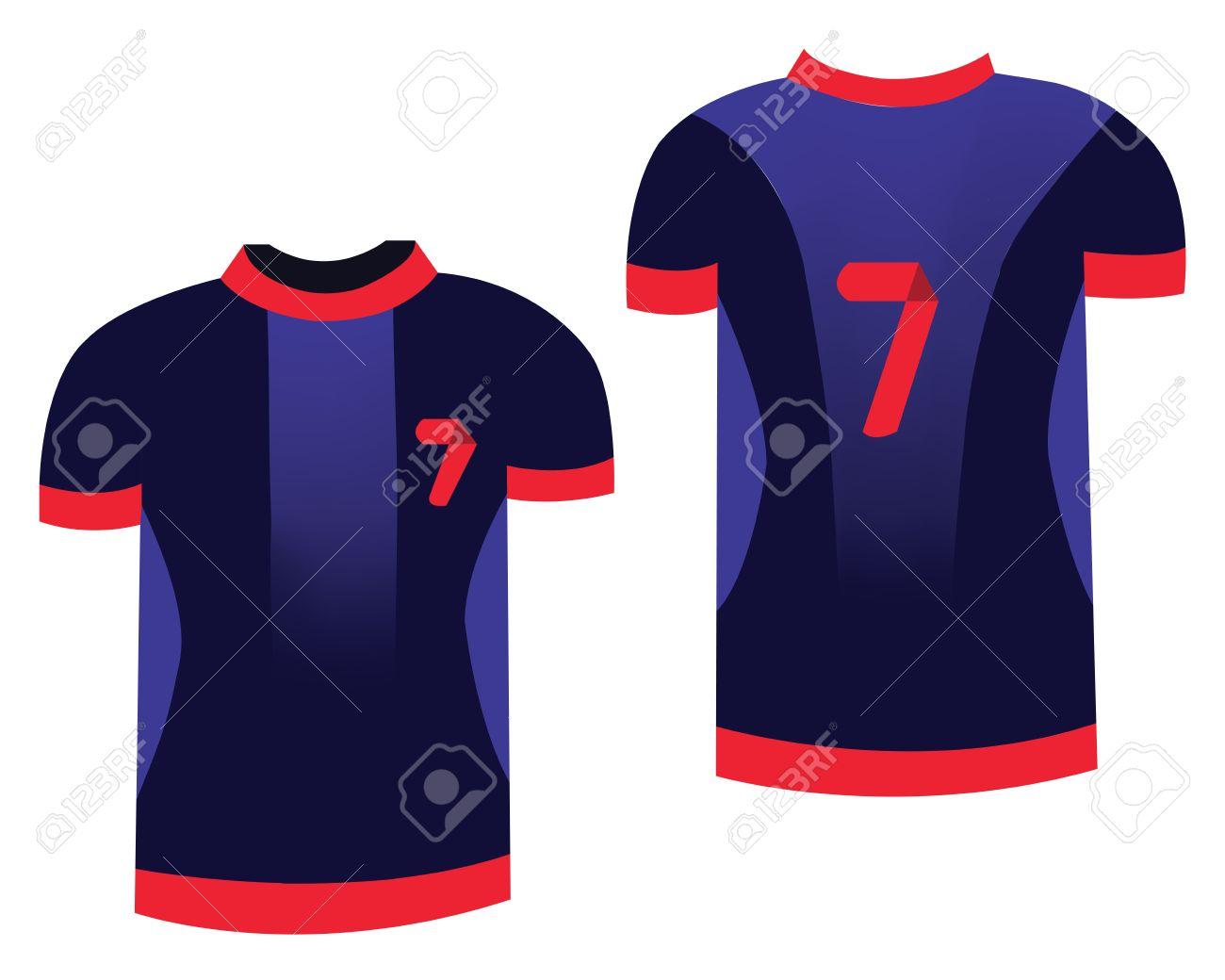 91042129a3370 Foto de archivo - Uniforme de fútbol Deportes. Camiseta deportiva para los  jugadores de fútbol. Ilustración de la manera en el fondo blanco.