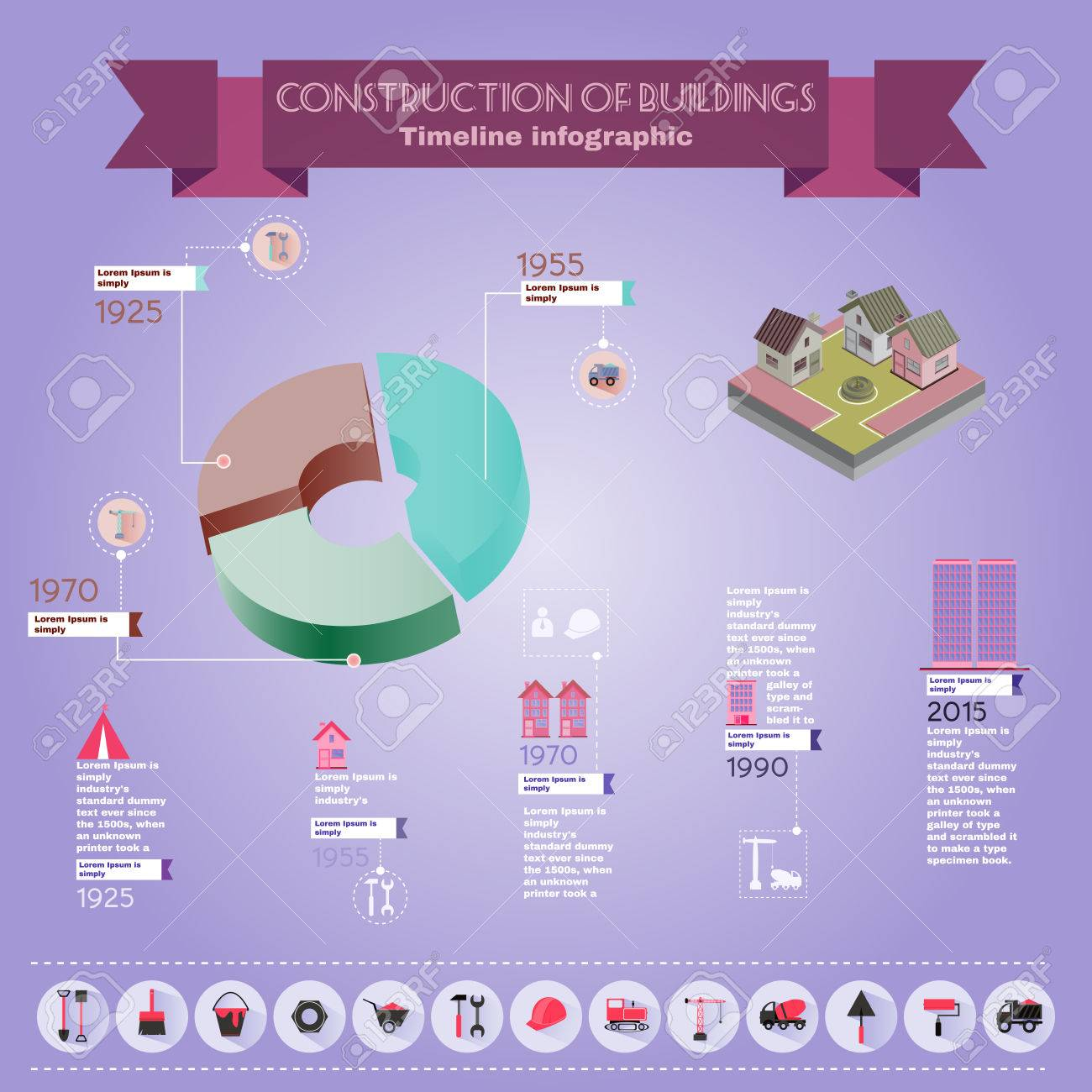 Pie chart construction diagram buildings construction infographic pie chart construction diagram buildings construction infographic vector illustration trustworthy real estate company presentation ccuart Image collections