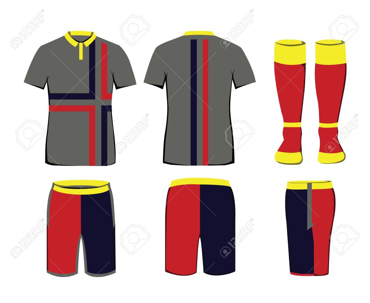 selección asombrosa comprar oficial comprar baratas Uniforme de ropa deportiva. ilustración vectorial de fondo digital. diseño  elegante para las camisetas, los pantalones cortos y calcetines.