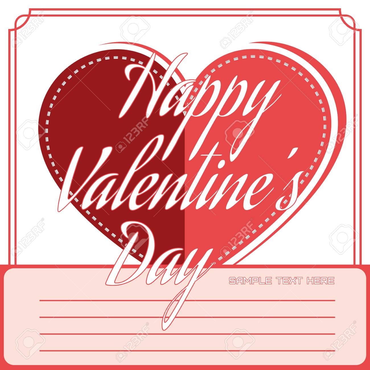 Feliz Día De San Valentín Tarjeta De Felicitación De Invitación ...