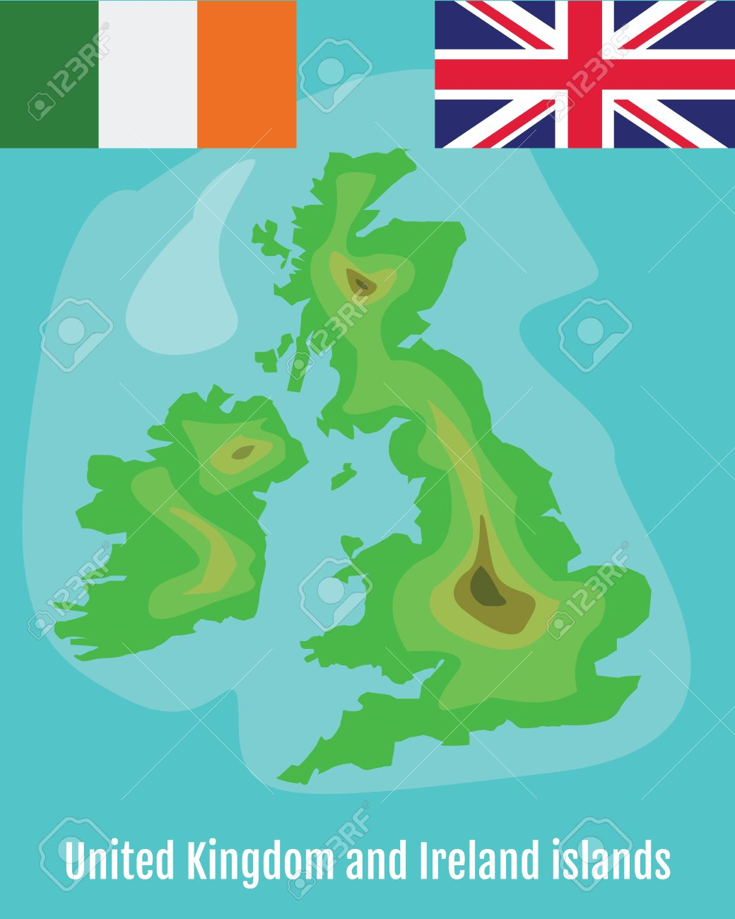 Map Of Ireland With Islands.Map Of United Kingdom And Ireland Islands School Geography Map