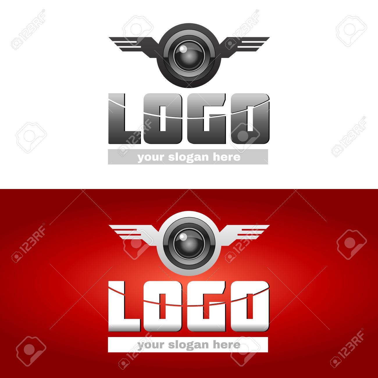 Modle De Signe Logotype Laviation Logo Avec Wings Propeller Carte Visite Espce Vide Pour Votre Slogan Dentreprise