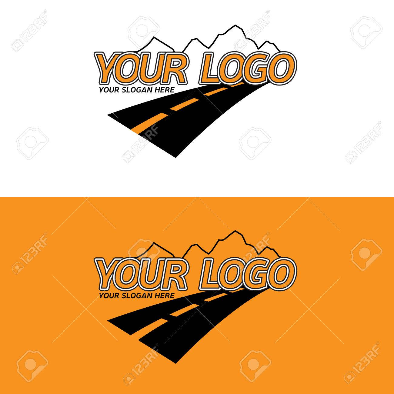 Travel Agency Logotype Template Destinations Mountains Logo With And Road Business
