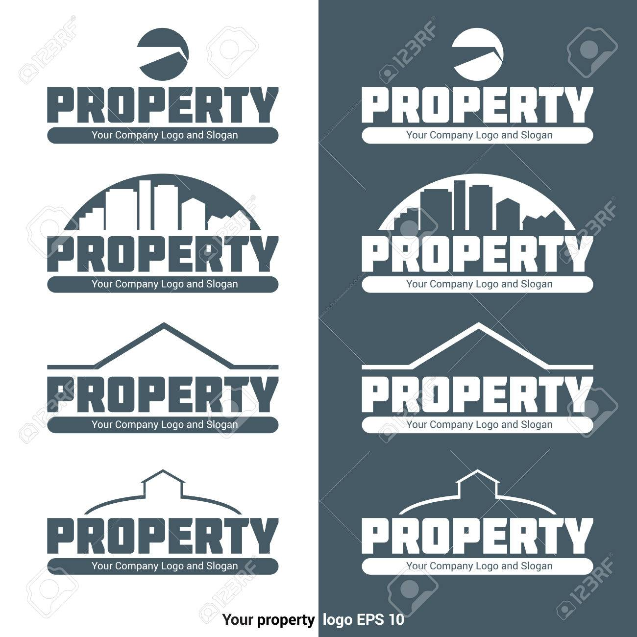 Property Agency Logotype Template. Real Estate Company Logo With ...
