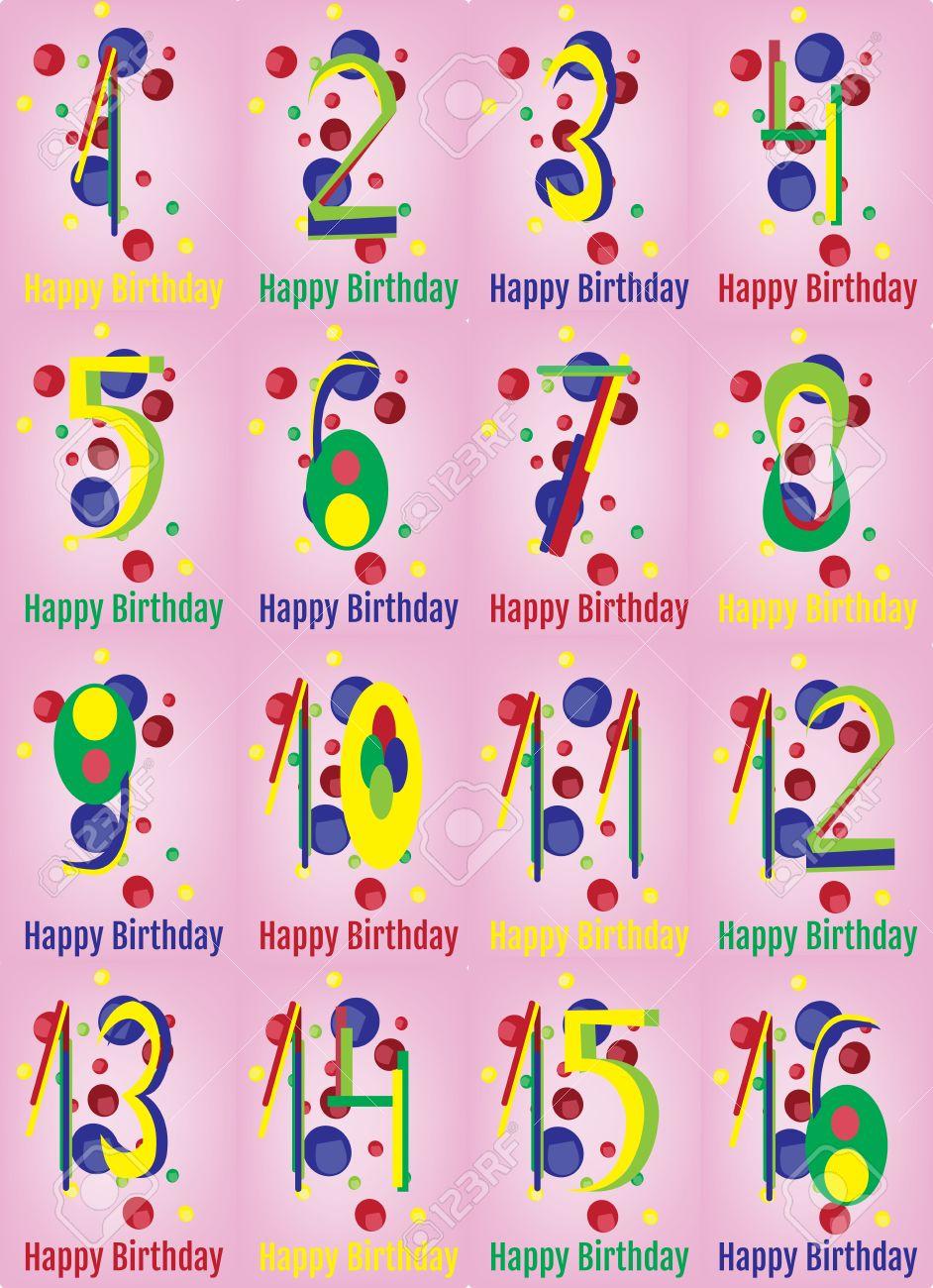 Carte De Joyeux Anniversaire Joyeux Anniversaire Vecteur D Impression Papier D Emballage Numerique Affiche Anniversaire De Bebe Birthday Party Decoration Adolescent Avec Colorful Backdrop Confetti Rose Clip Art Libres De Droits Vecteurs Et