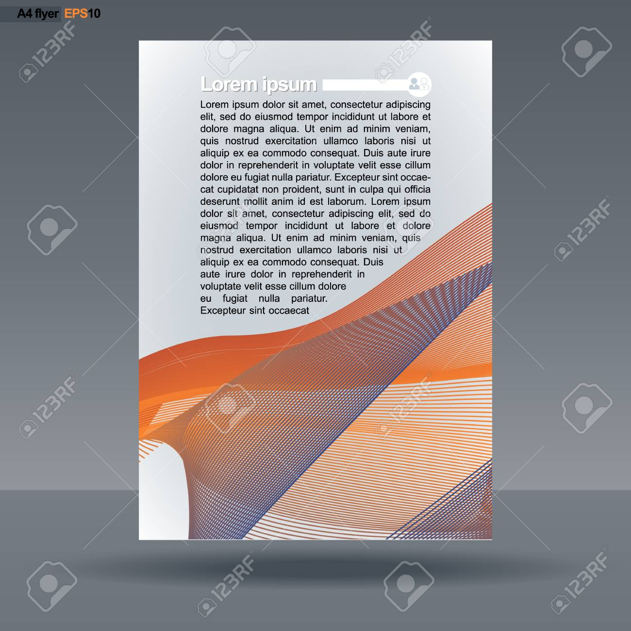 Abstract Print A4 Design With Colored Lines For Flyers Banners Or Posters People