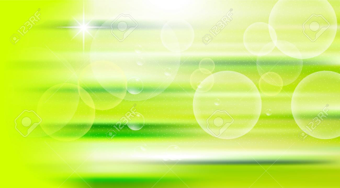 Digital Vector Green Abstract Empty Background With Light Waves