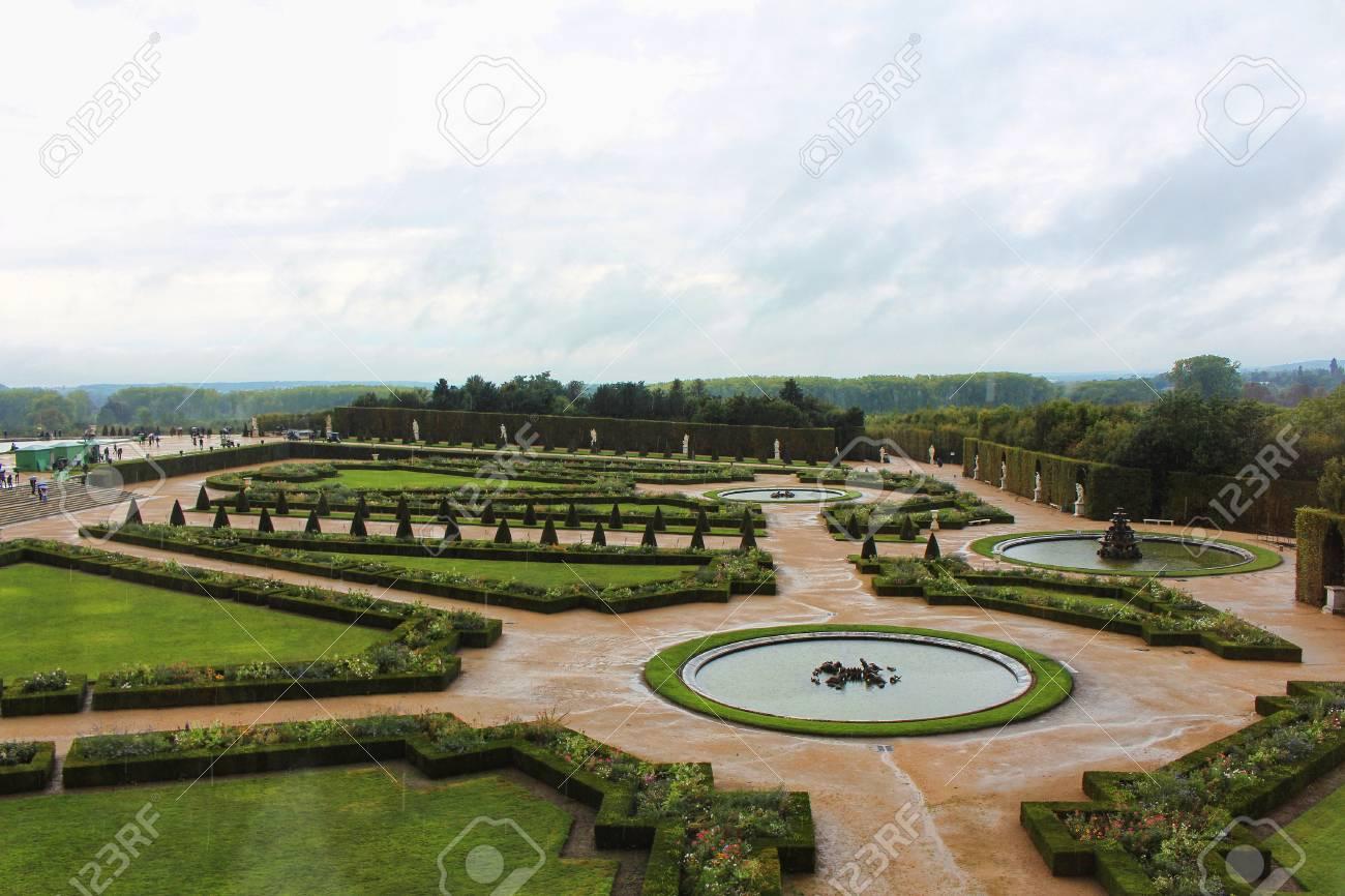 Vista sul giardino di versailles città di parigi francia foto