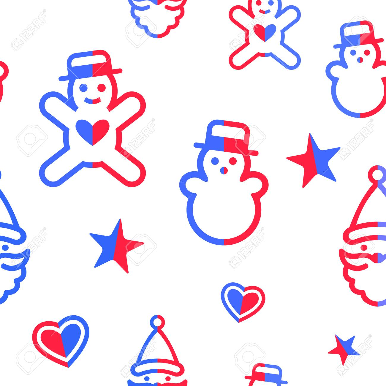 digital vector yellow blue happy new year merry christmas icons with drawn simple line art info