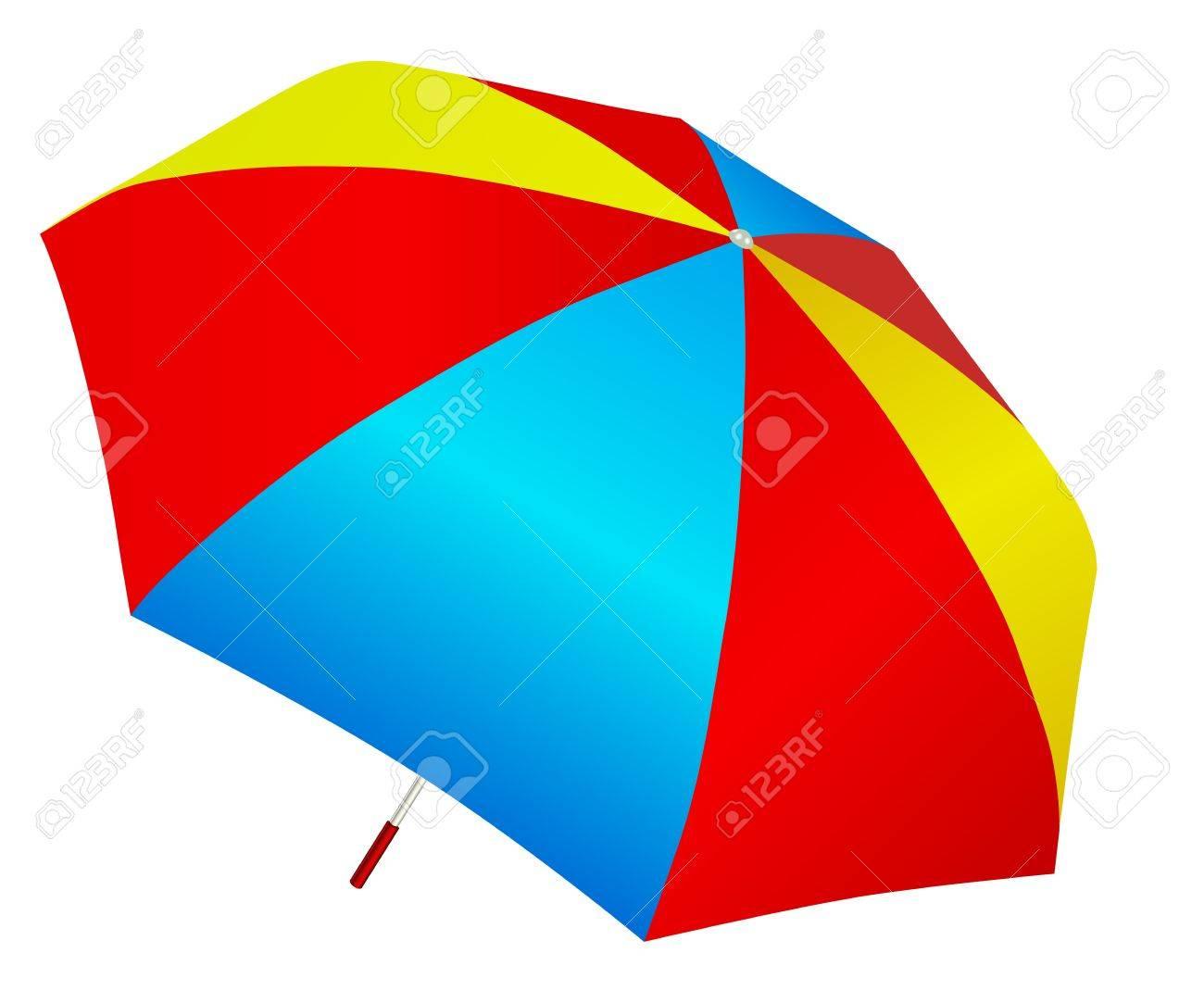 Multicolored umbrella vector Stock Vector - 15207167