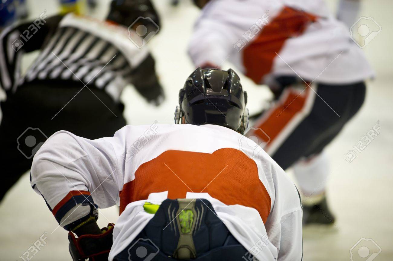 A moment of ice hockey game Stock Photo - 18348404