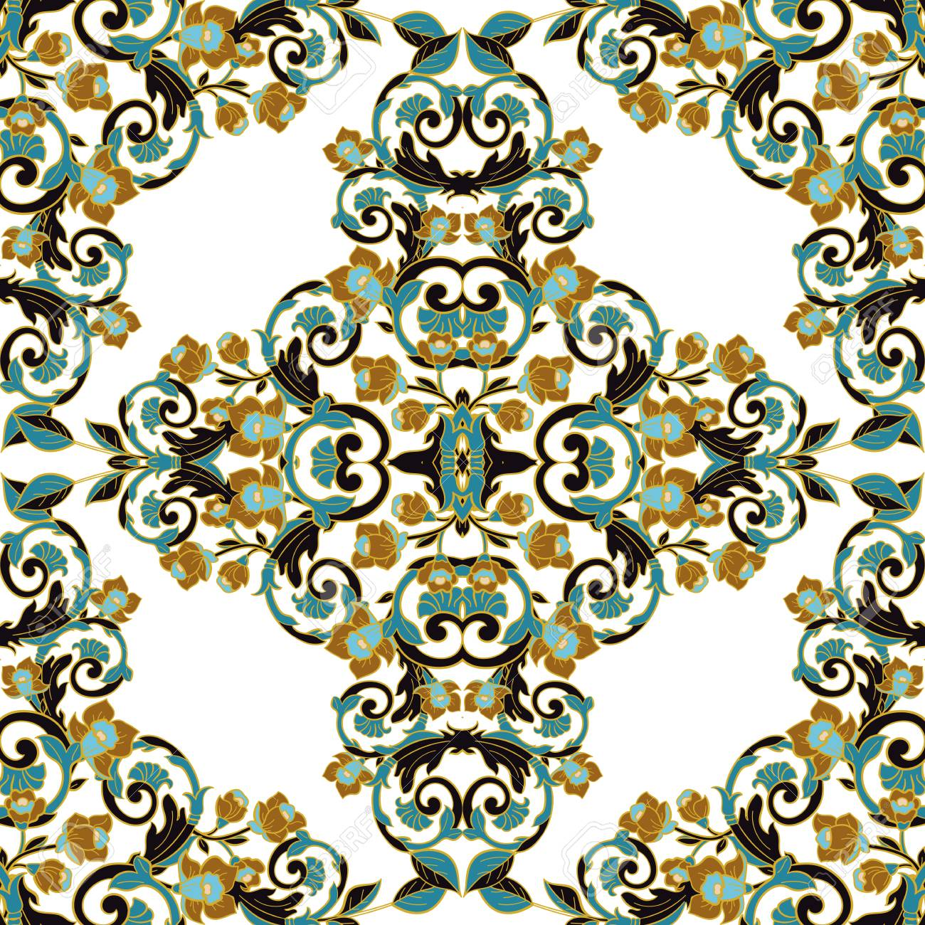 vector damask seamless pattern royalty free cliparts vectors and rh 123rf com seamless damask pattern vector seamless damask pattern vector