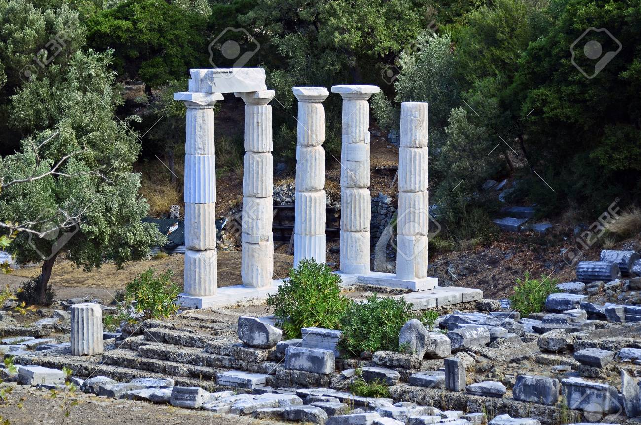 greece samothrace sanctuary of the great gods in palaeopolis