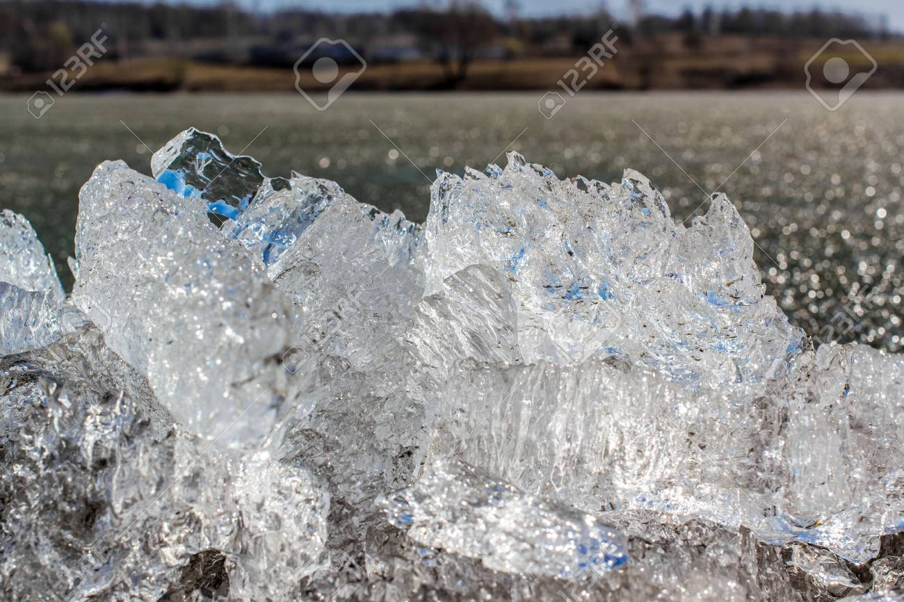 Close up of ice on the lake background6  Shallow focus Stock Photo - 19181965