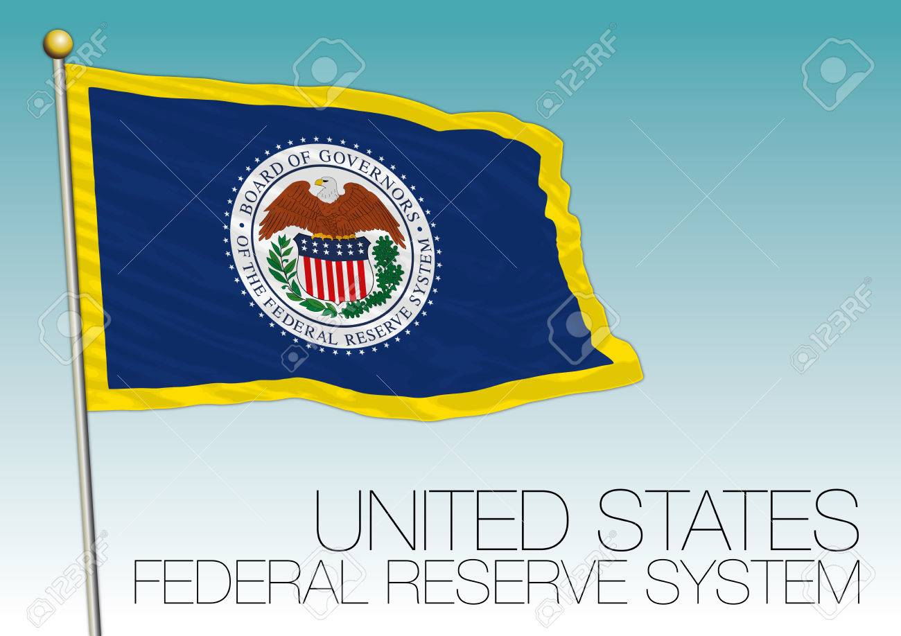 Federal Reserve System Flag United States Royalty Free Cliparts