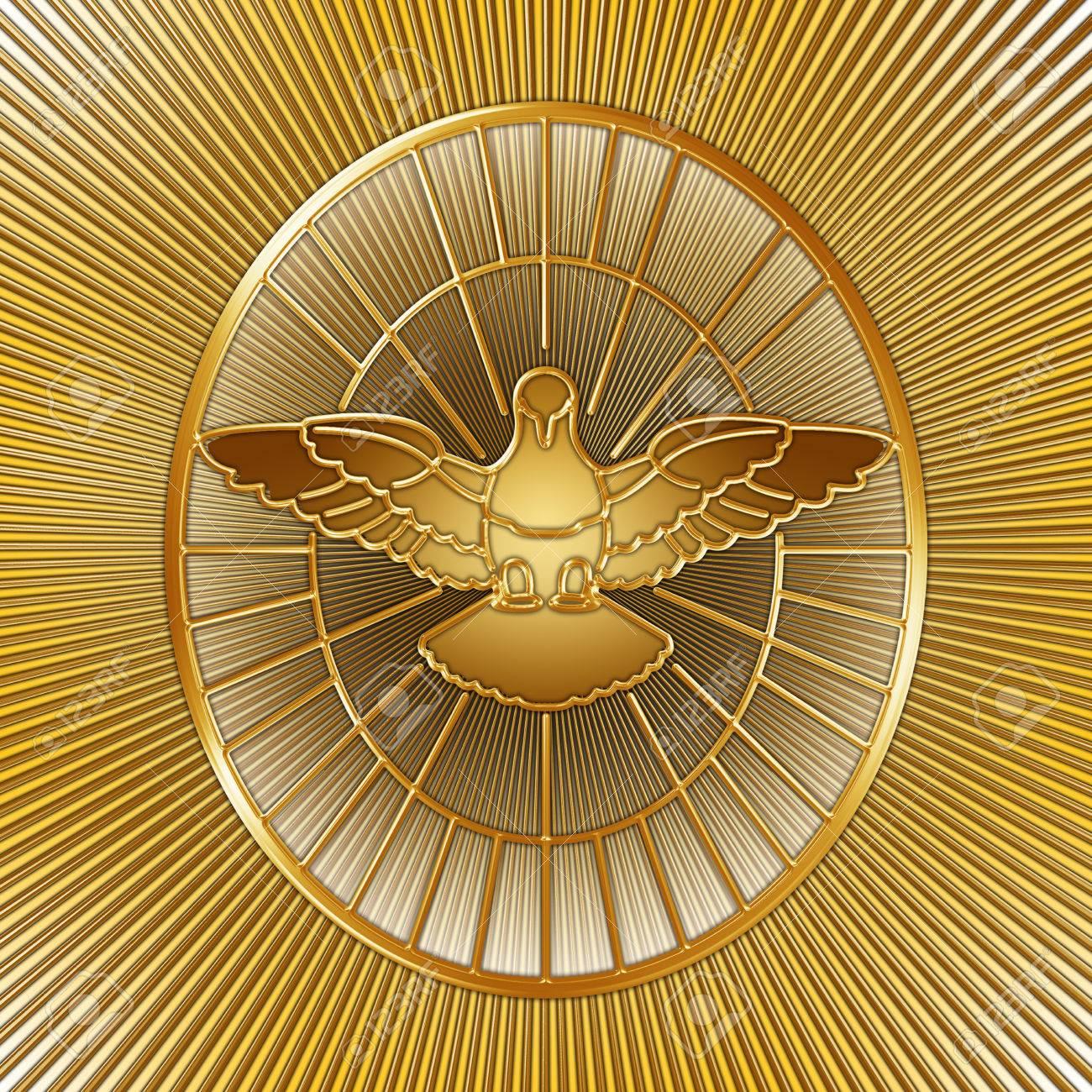 Holy Spirit symbol, Saint Peter, Rome, graphic design, illustration - 83208028