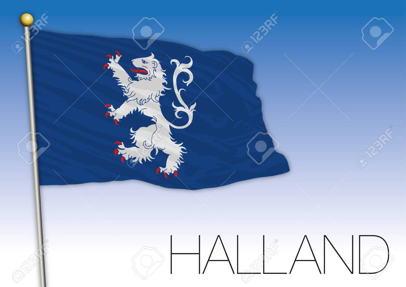 Halland regional flag, Sweden, vector illustration - 120484569