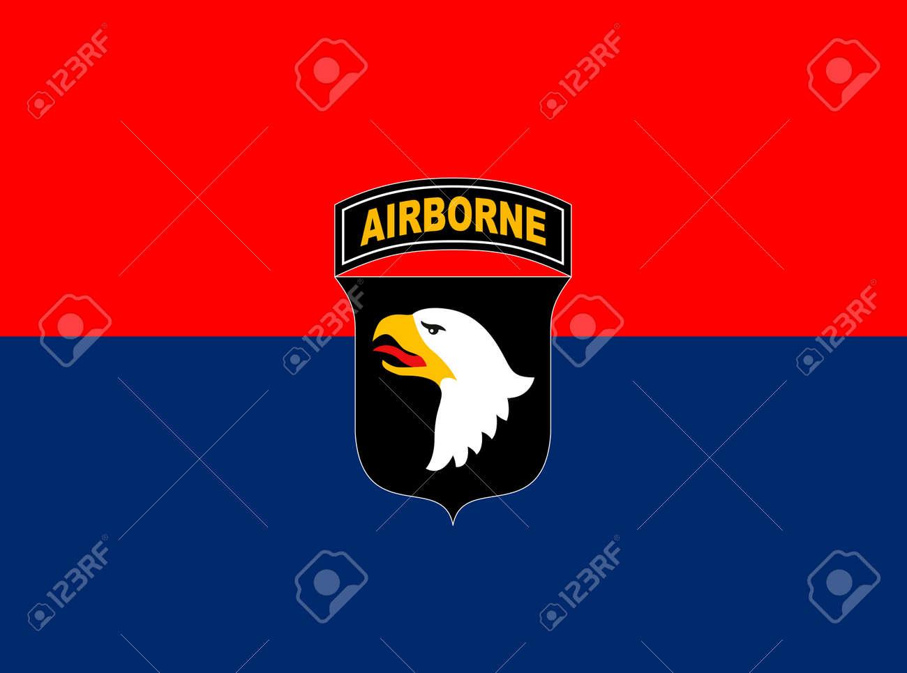 US 101st Airborne Division flag, United States of America, vector illustration - 172710992