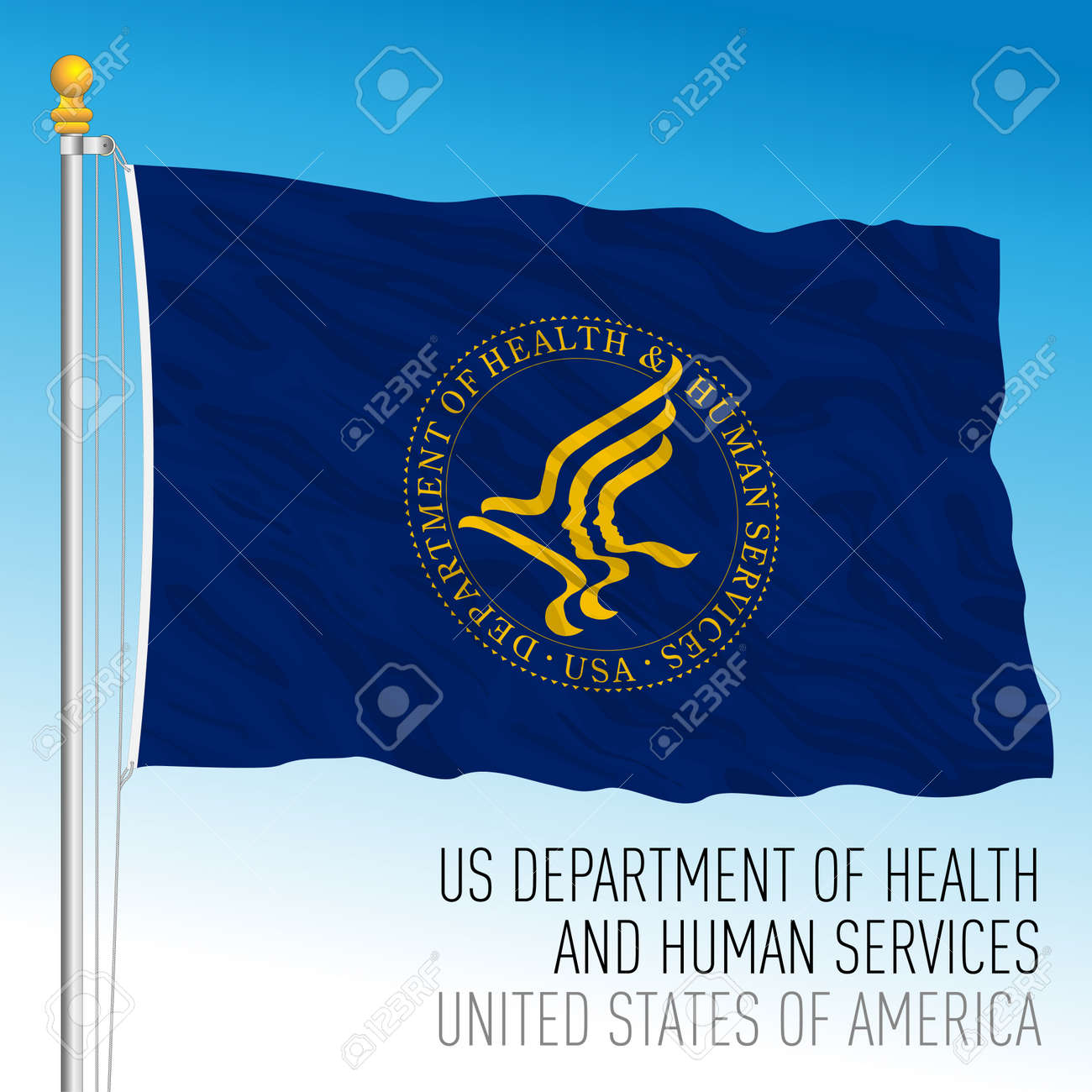 US Department of Health and Human Services, United States of America, vector illustration - 172846203