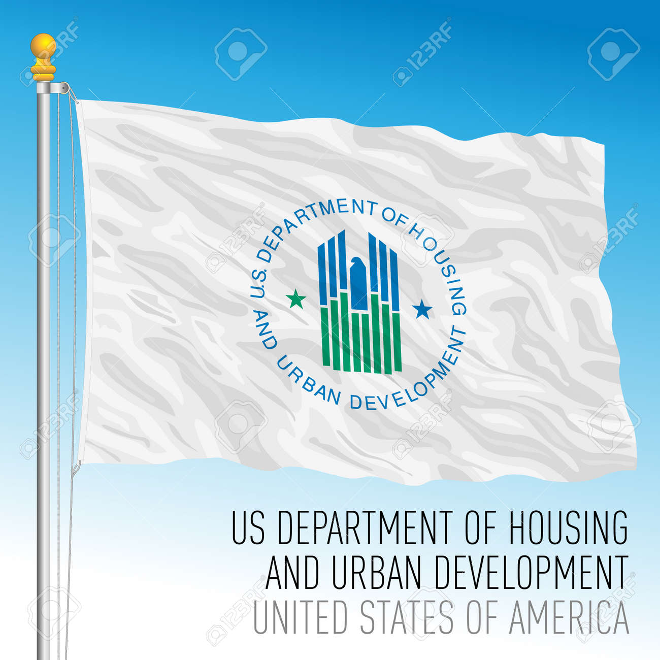 US Department of Housing and Urban Development flag, United States of America, vector illustration - 172905541