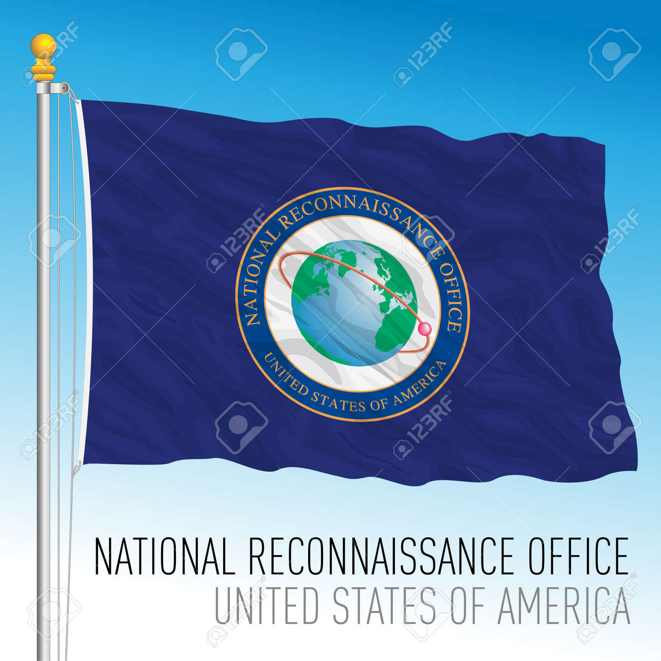 US National Reconnaissance Office flag, United States of America, vector illustration - 172958198